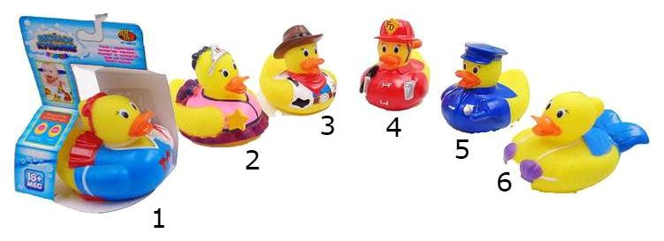 Игрушка для купания ABtoys Уточка с индикатором температуры Веселое купание, 6 видов