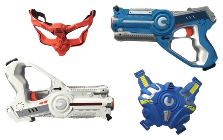 Набор инфракрасного оружия Shantou Gepai 2 бластера жилет и маска JB202419