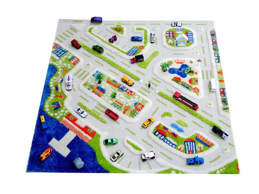 Детский игровой 3D-ковер Мини город, 100 х 100 см