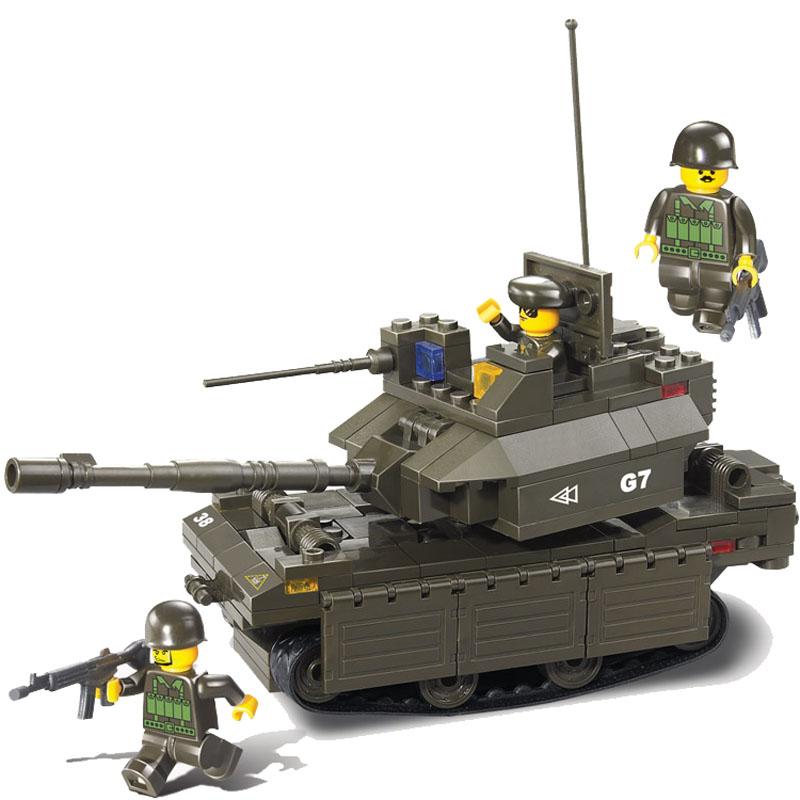 Купить SLUBAN Конструктор Вооруженные силы, 219 дет, в/к 31*20, 5*5 см JB900163, Конструкторы пластмассовые