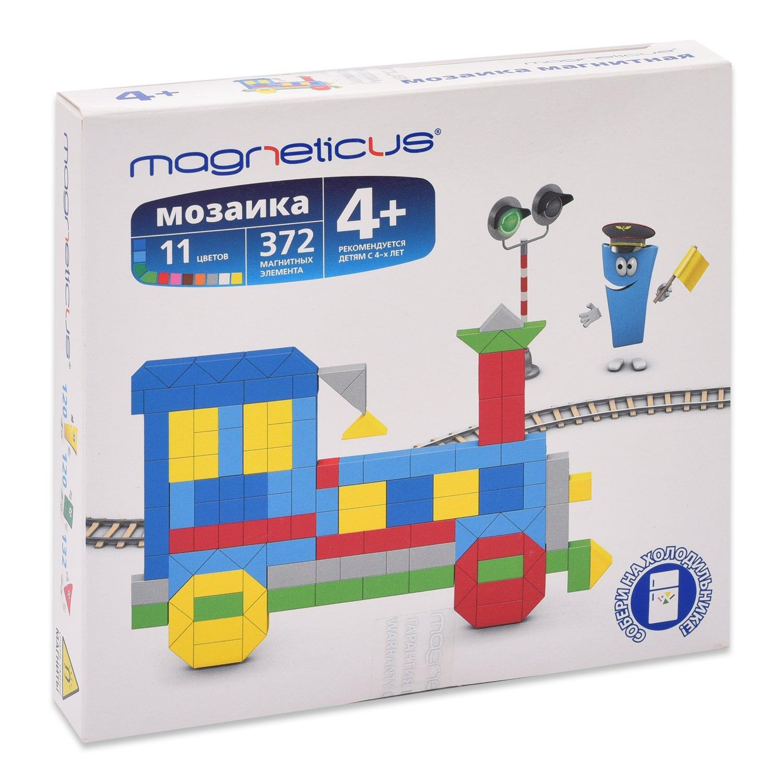 Купить MAGNETICUS Мозаика магнитная Миди. Поезд, 372 элемента, 11 цветов, Мозаики
