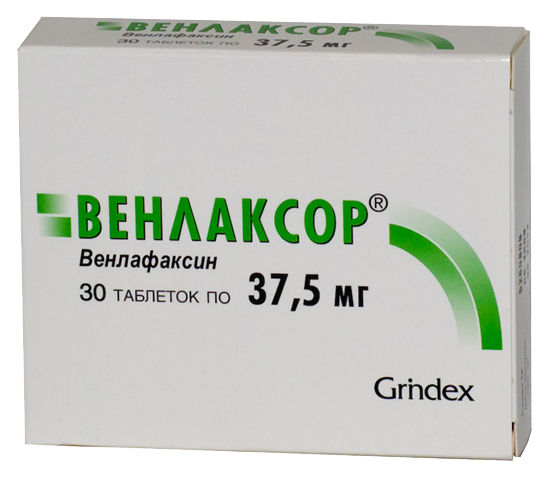 Купить Венлаксор таблетки 37.5 мг 30 шт., Grindex