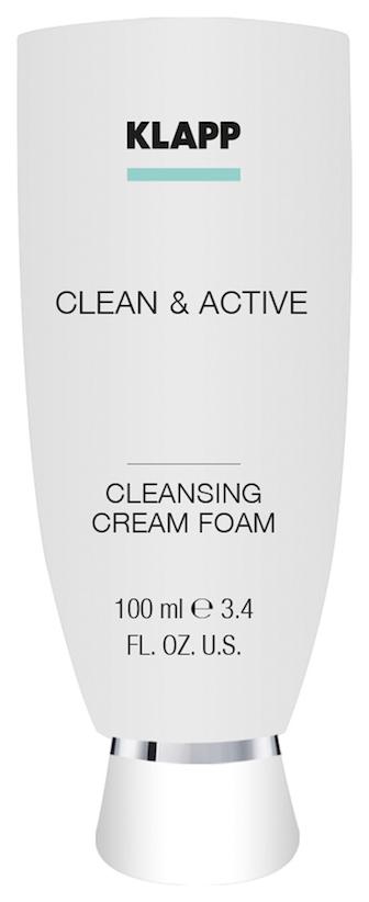 Пенка для умывания Klapp CLEAN#and#ACTIVE Cleansing Cream Foam 100 мл