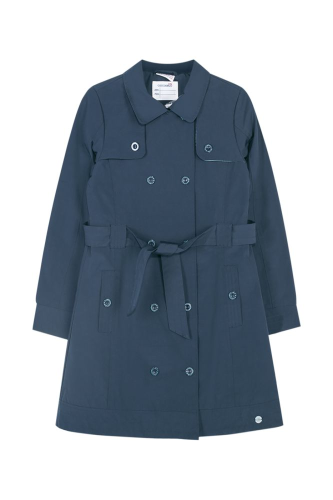 Купить W19151201gro, Плащ для девочек COCCODRILLO р.152, Дождевики и плащи для девочек