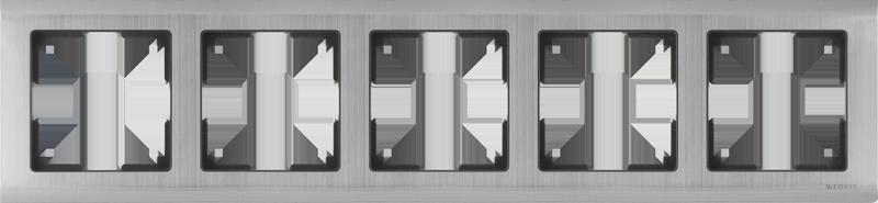 Рамка для выключателя Werkel WL02-Frame-05 a030790 глянцевый никель