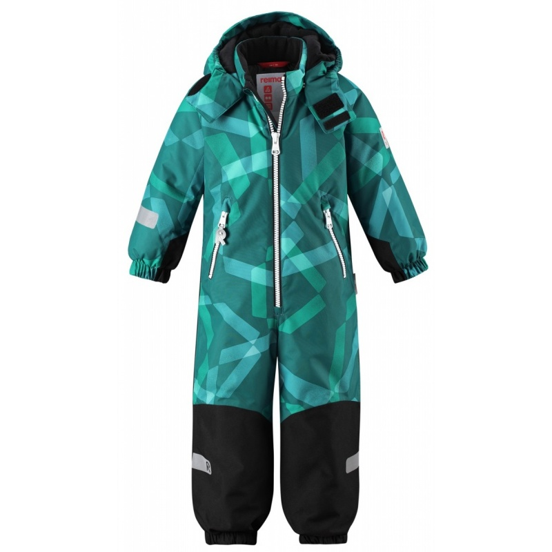 Купить Комбинезон Snowy REIMA Зеленый р.92, Зимние комбинезоны для девочек