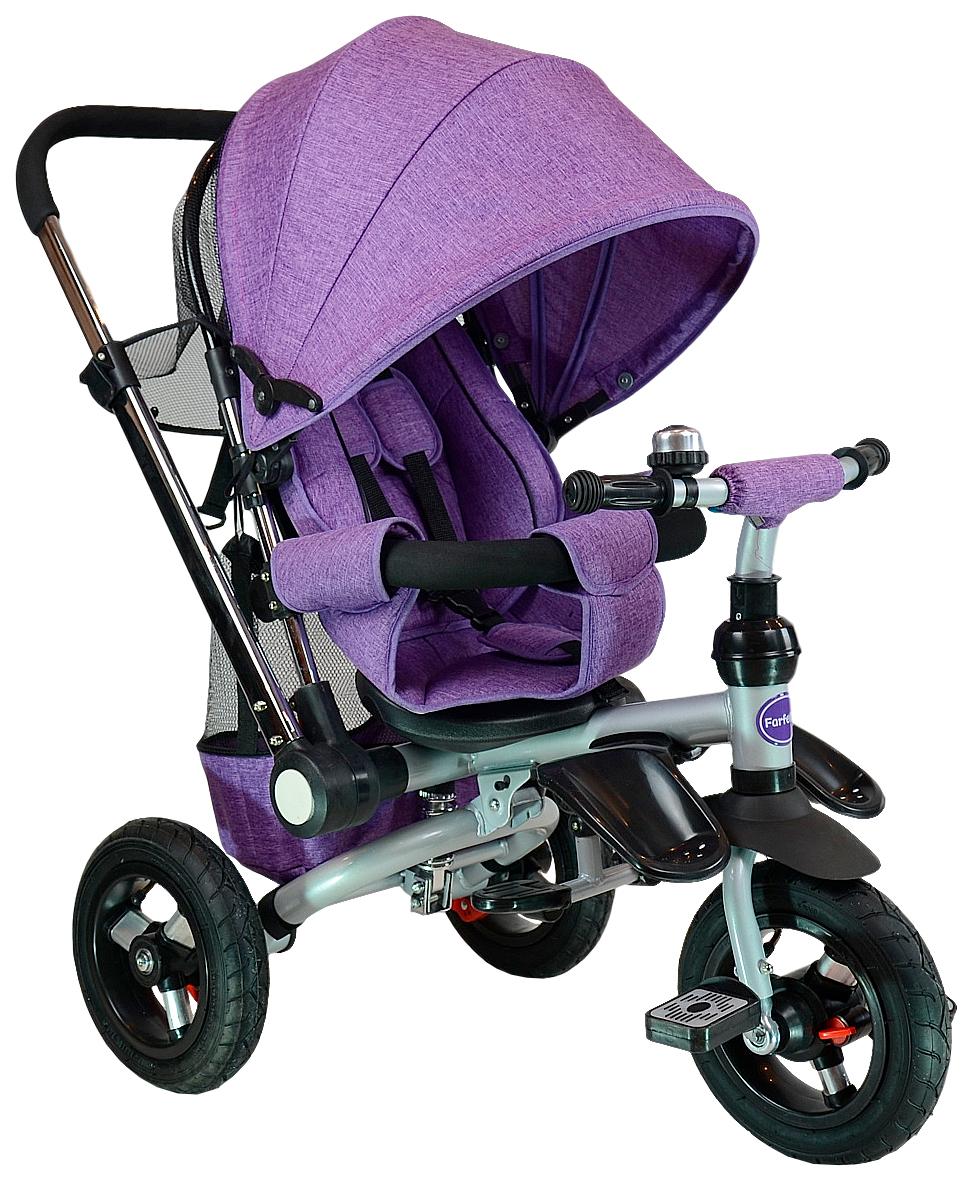 Купить Велосипед трехколесный Farfello TSTX011 лен фиолетовый, Детские велосипеды-коляски