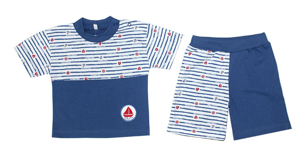 Комплект одежды для мальчиков Осьминожка 218-356В-24/80 синий р.80