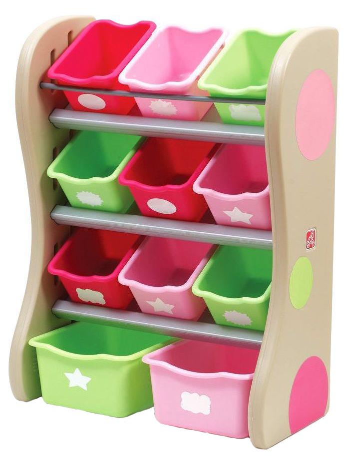 Купить Центр хранения Step 2 розовый, Ящики для хранения игрушек