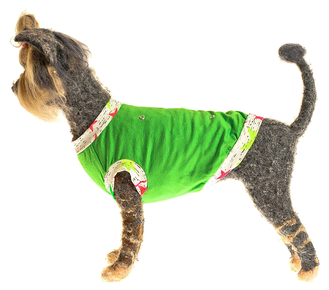 Майка для собак Happy Puppy Веселый щенок зеленый XL.