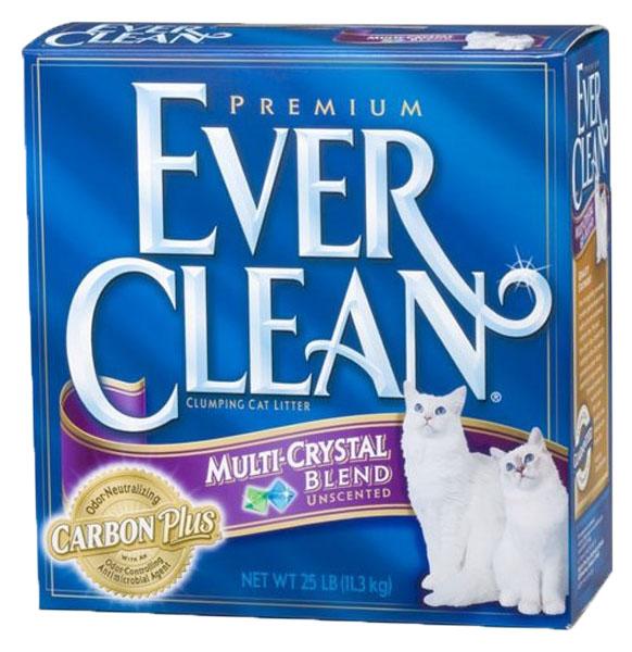 Наполнитель EVER CLEAN Multi Crystals Blend комкующийся 10 кг без запаха