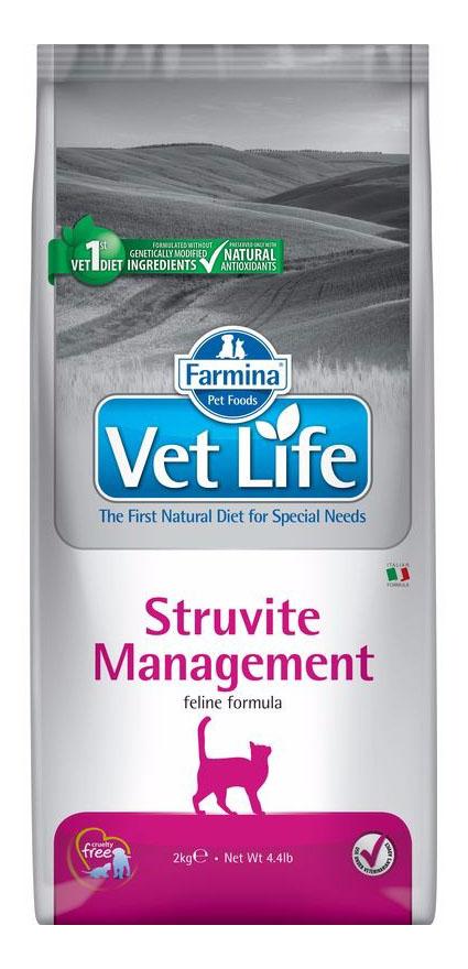 Сухой корм для кошек Farmina Vet Life Management Struvite, от струвитов, курица, 2кг