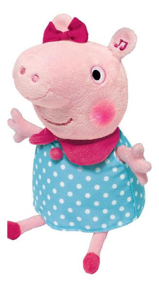 Купить Мягкая игрушка Peppa Pig Свинка Пеппа свинка пеппа с движением светом и звуком 30 см, Мягкие игрушки персонажи
