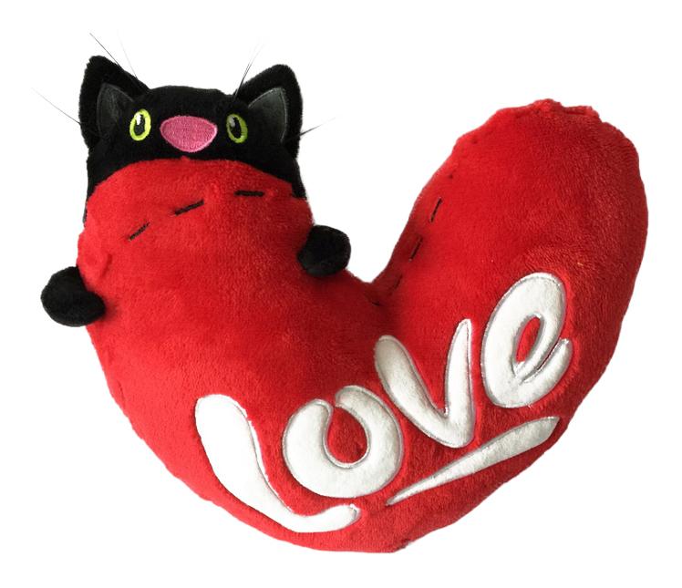 Мягкая игрушка Gulliver Подушка Кот с Сердцем