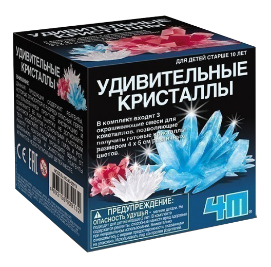 Набор для выращивания кристаллов 4M Удивительные Кристаллы Мультицвет фото