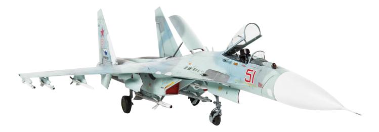 Модель для сборки Zvezda Российский многоцелевой истребитель СУ-27Сm фото