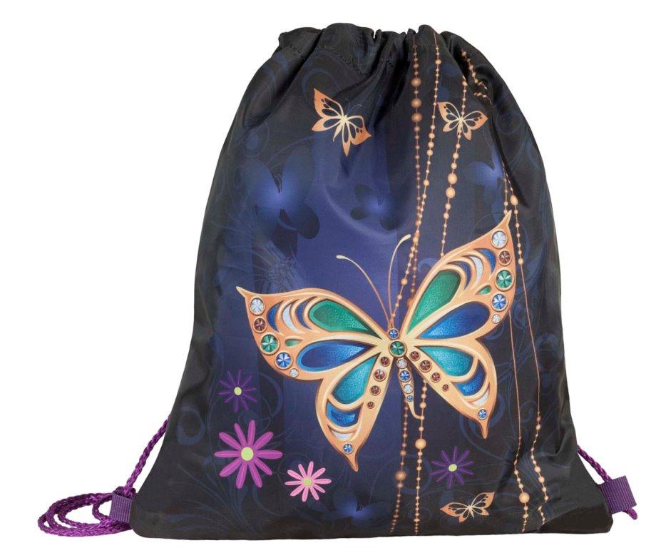 Купить Сумка для детской сменной обуви Золотая бабочка 2 , Target, Мешки для обуви