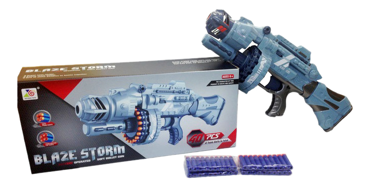 Бластер стреляющий мягкими снарядами 40 шт. 56,5x14,5x24,5 см