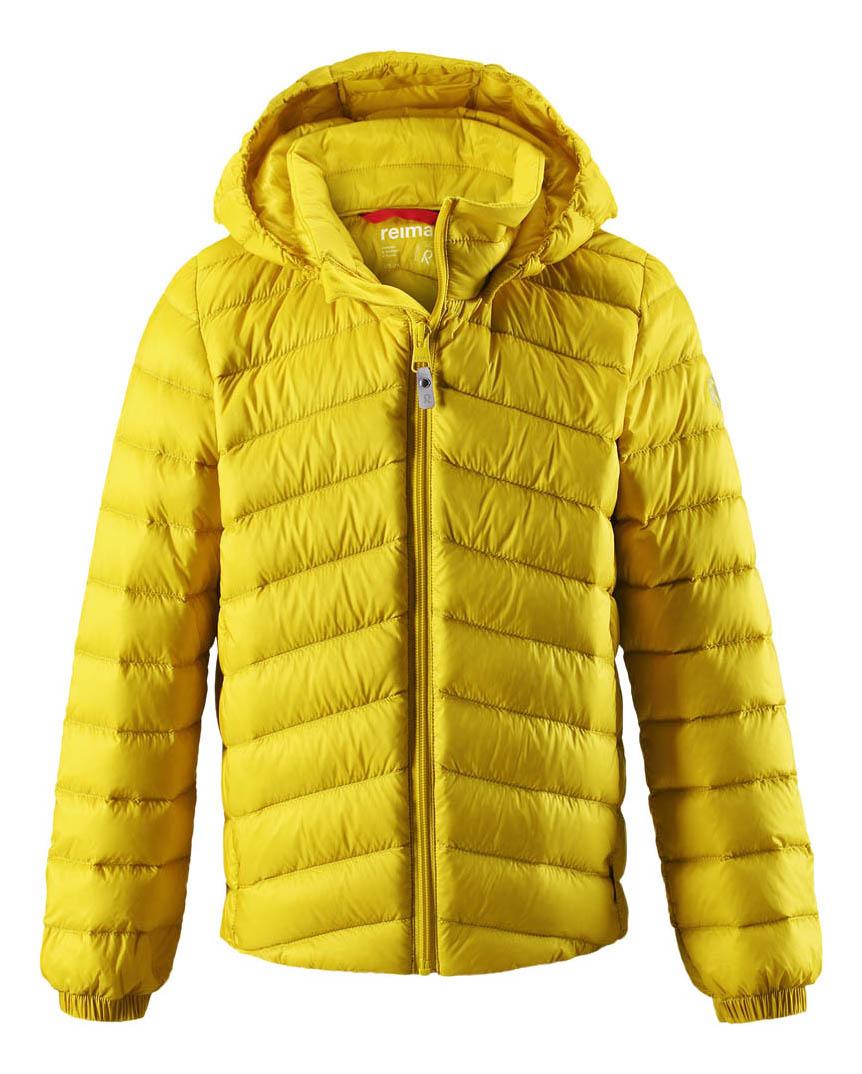 Куртка Reima пуховая для мальчика Falk желтая