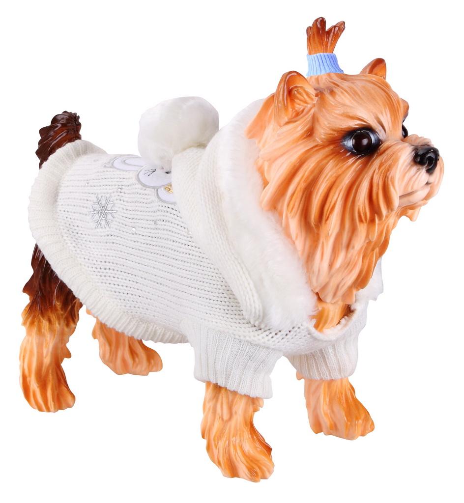 Свитер для собак DEZZIE размер L унисекс, серый, длина спины 35 см фото