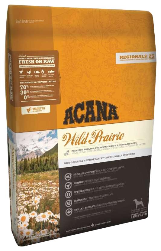 Сухой корм для собак ACANA Regionals Wild Prairie, курица, 11,4кг фото