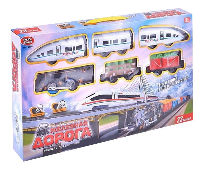 Купить Игровой набор Железная дорога радость путешественника свет звук Play Smart 730, PLAYSMART, Детские железные дороги