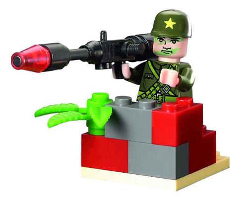 Конструктор пластиковый Brick Военный гранатометчик