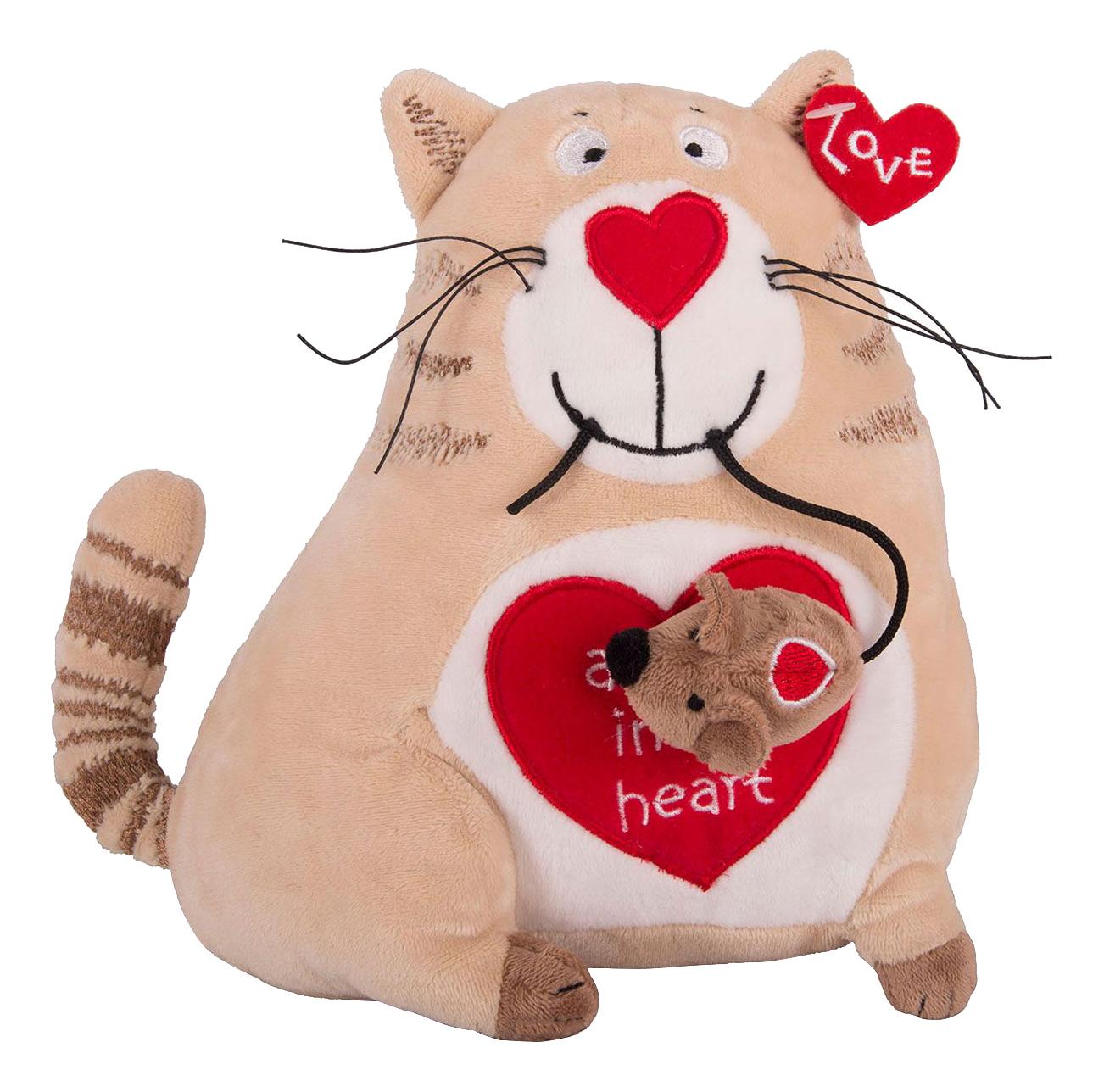 Купить Мягкая игрушка Gulliver Кот и мышь Любовь с первого взгляда, 20 см,