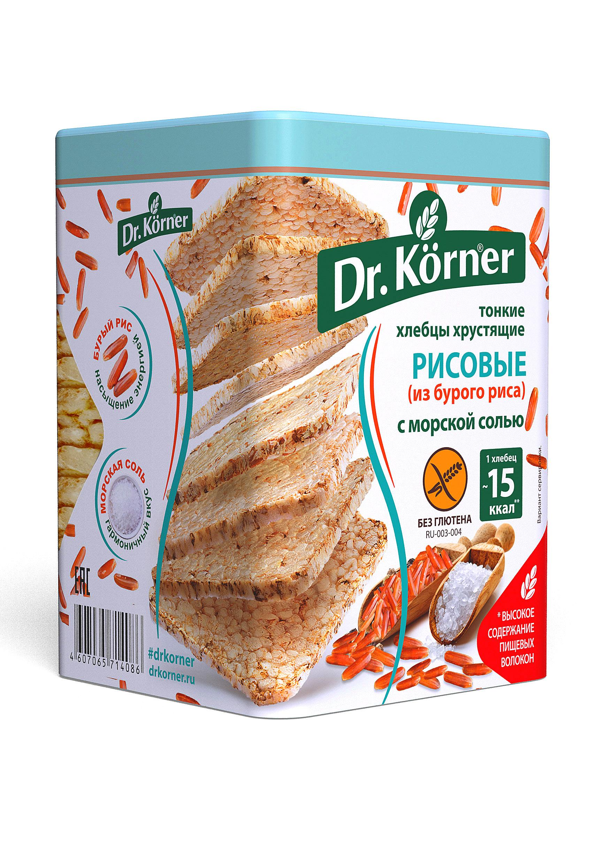 Хлебцы хрустящие Dr.Kоrner рисовые с морской солью тонкие 100 г