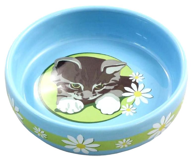 Одинарная миска для кошек Triol, керамика, разноцветный,