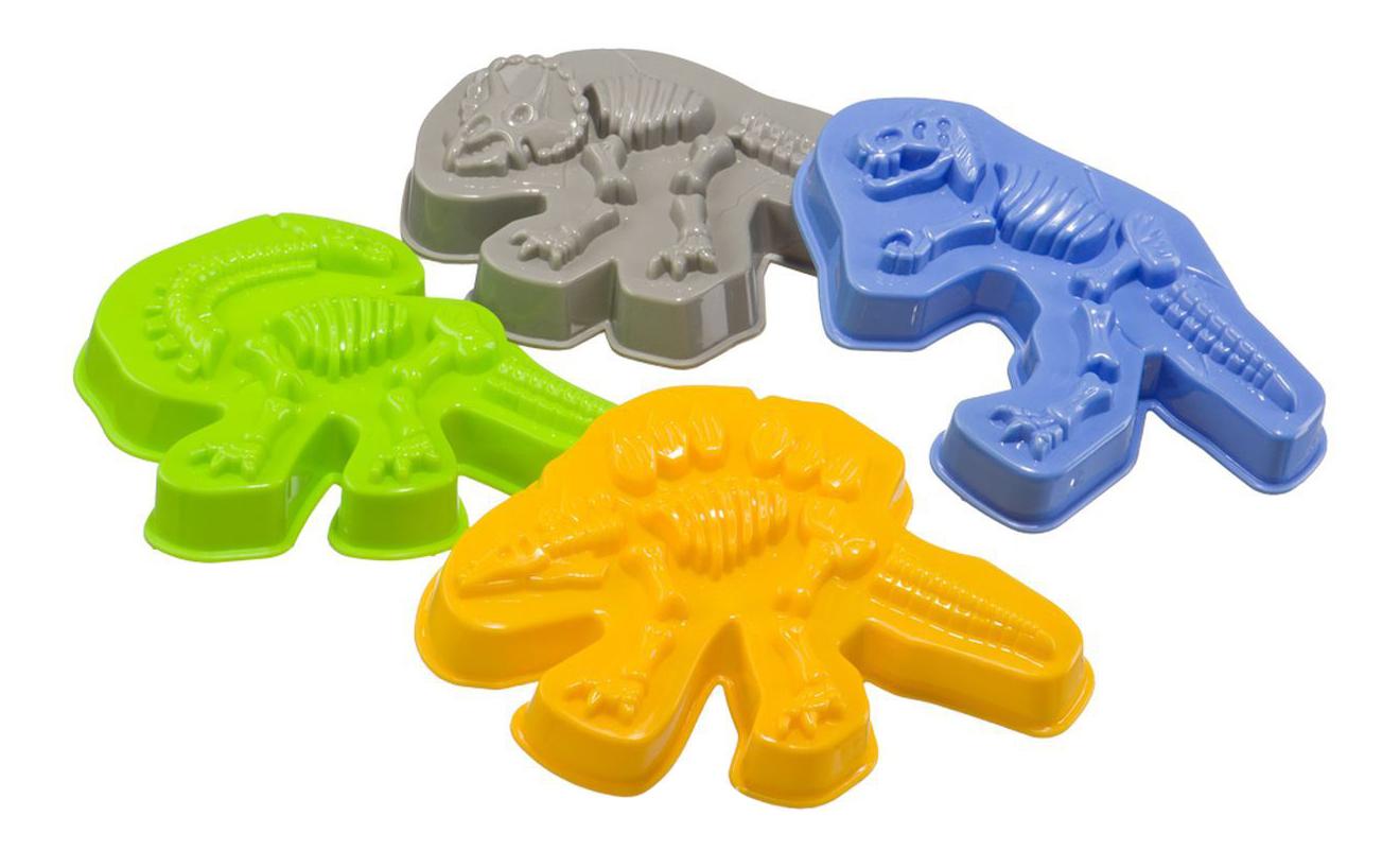 Купить Формочки для песка DINOSAURS , Набор формочек для песка Dinosaurs Happy Baby 330403, Песочные наборы