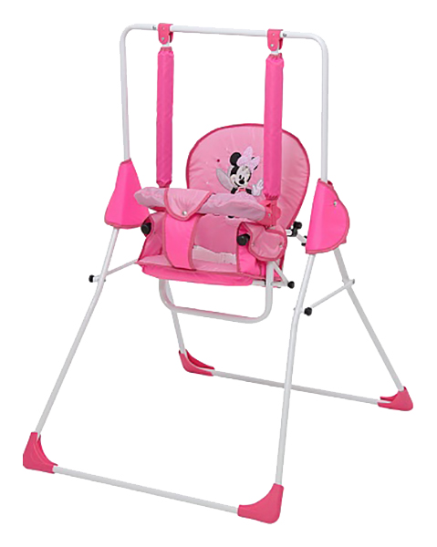 Купить Качалка детская Disney baby Качели Микки Маус с вышивкой розовый 0001701-02, Качалки детские