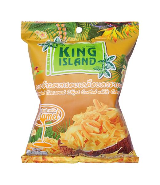 Кокосовые чипсы King Island с карамелью 40 г фото