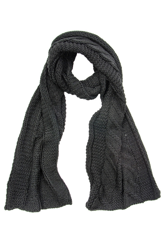 Шарф женский Moltini 191B-1720 черный фото