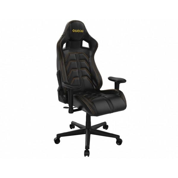 Кресло игровое Gamdias Ulisses MF1 GCUMF1BY, желтый/черный фото