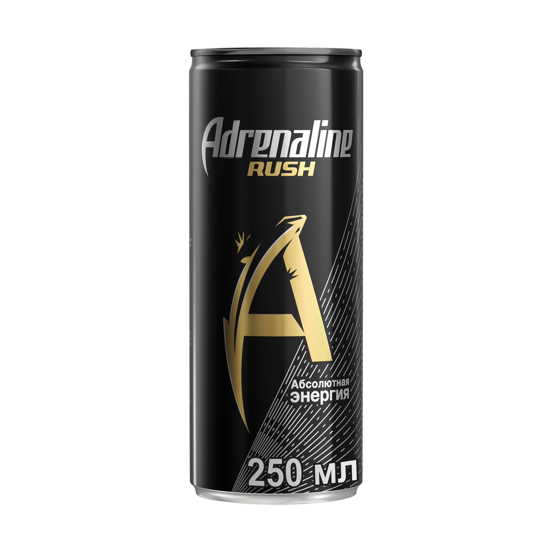 Напиток энергетический Adrenaline rush абсолютная энергия жестяная банка 0.25 л
