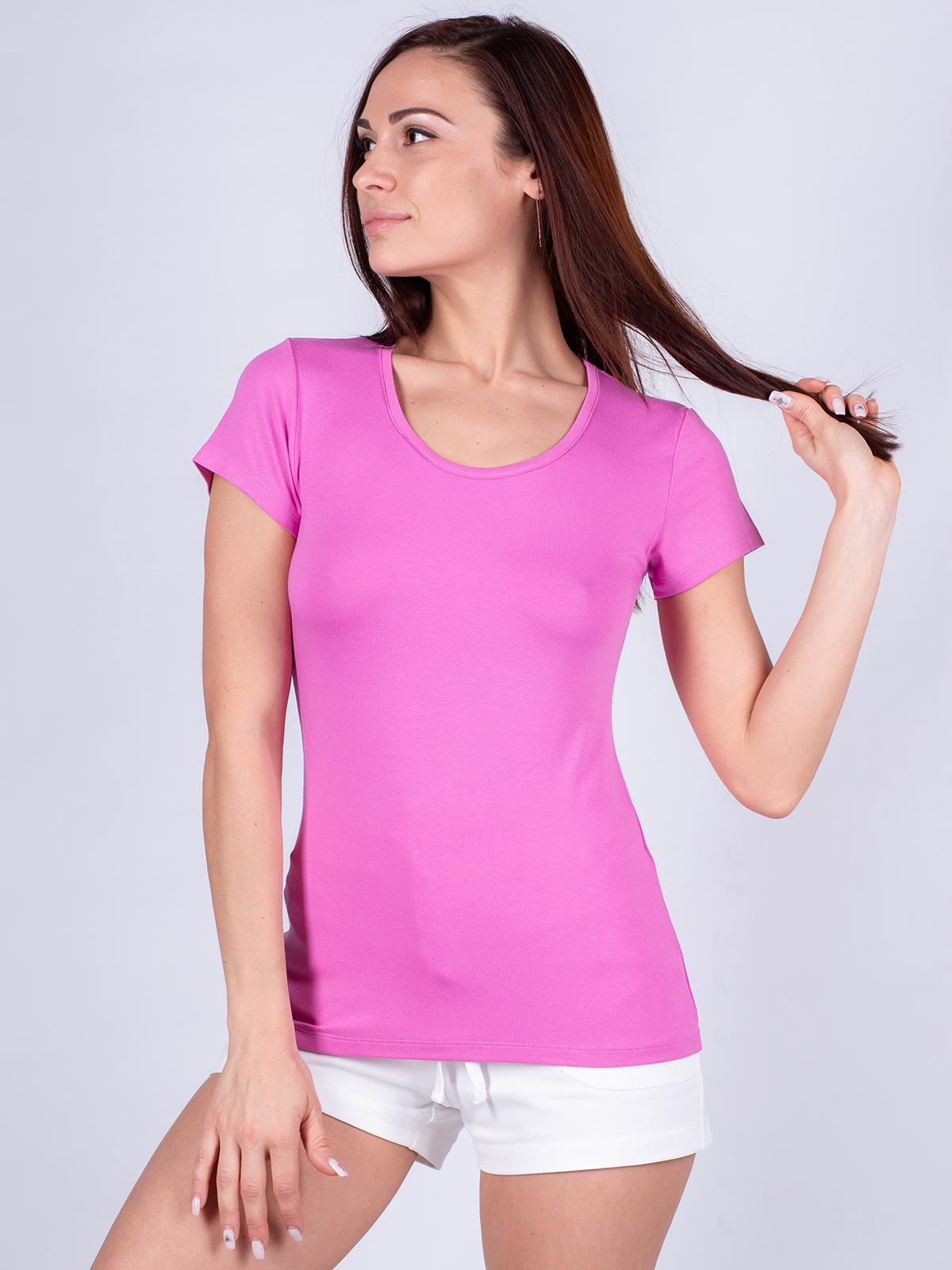 Футболка женская Oxouno розовая S