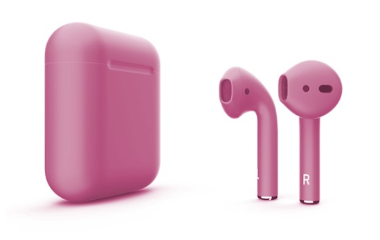 Наушники Apple AirPods Color 2 в футляре без беспроводной зарядки (Pink Matte) фото