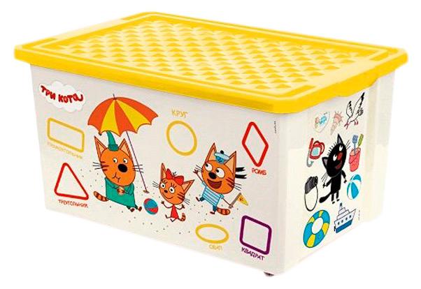"""Ящик для хранения """"Три кота"""", 57 л, жёлтый"""