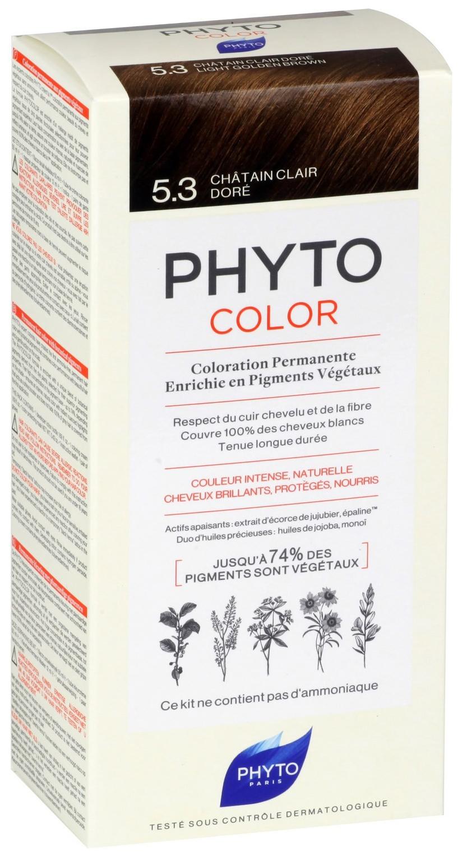 Краска для волос Phyto PhytoColor 5.3 Светлый золотистый шатен 40 мл фото
