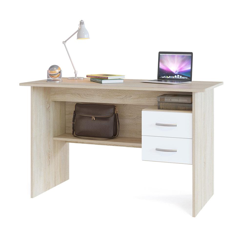 Письменный стол Сокол СПМ-07.1 дуб сонома/белый, 120х60х74 см. фото