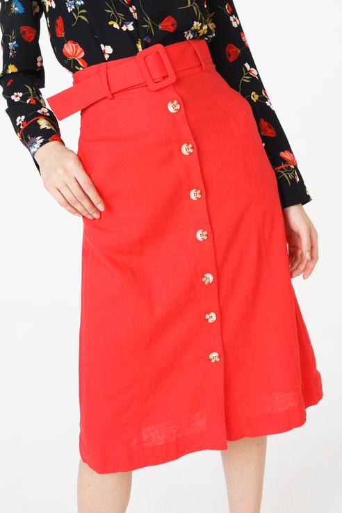 Юбка женская Baon B478015 красная XS