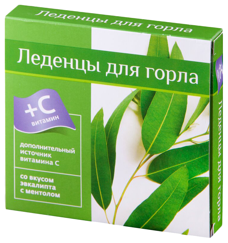 Леденцы с витамином С PL со вкусом эвкалипт-ментол 9 шт.