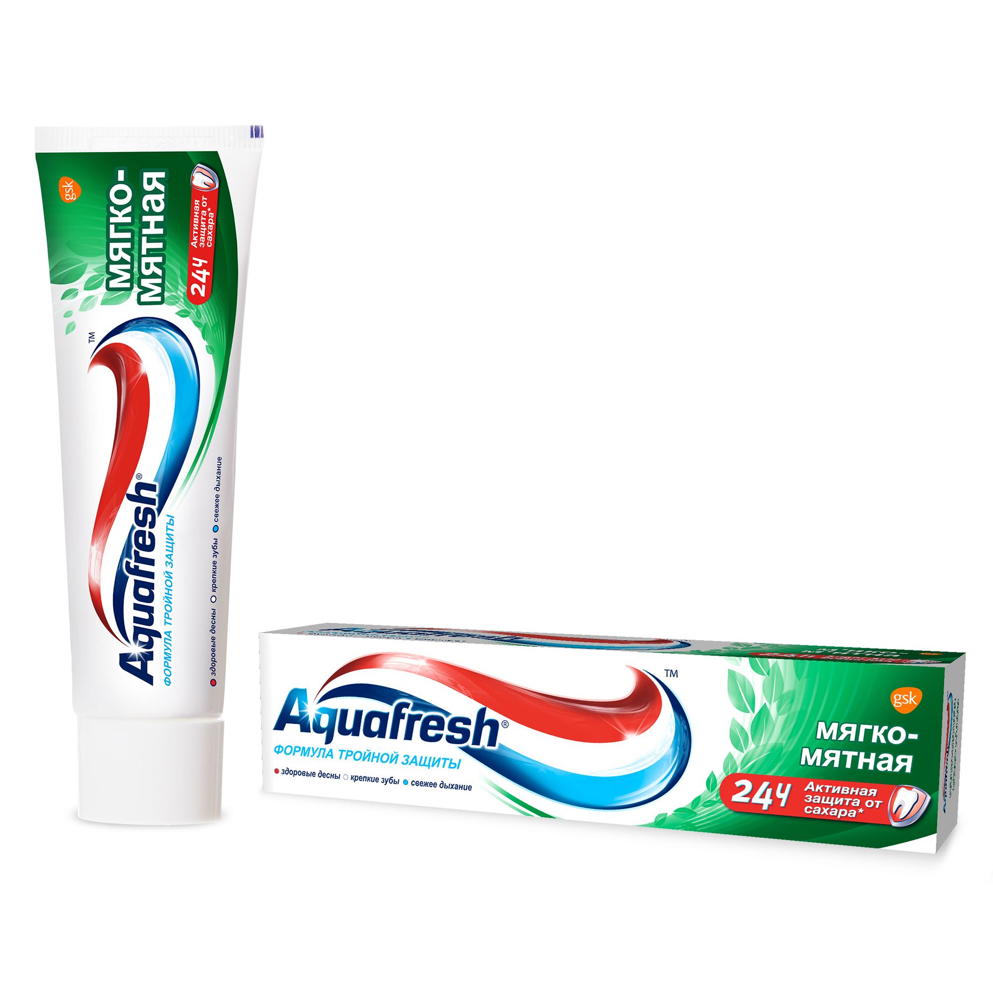 Зубная паста Aquafresh Тройная защита Мягко-мятная, 50 мл