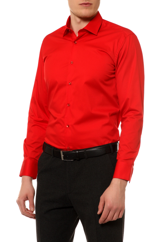 Рубашка мужская BAWER 1R00012-13 красная S