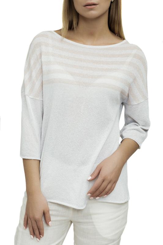 Блуза женская Alpecora С.18.15.04.A белая 56 IT Alpecora   фото