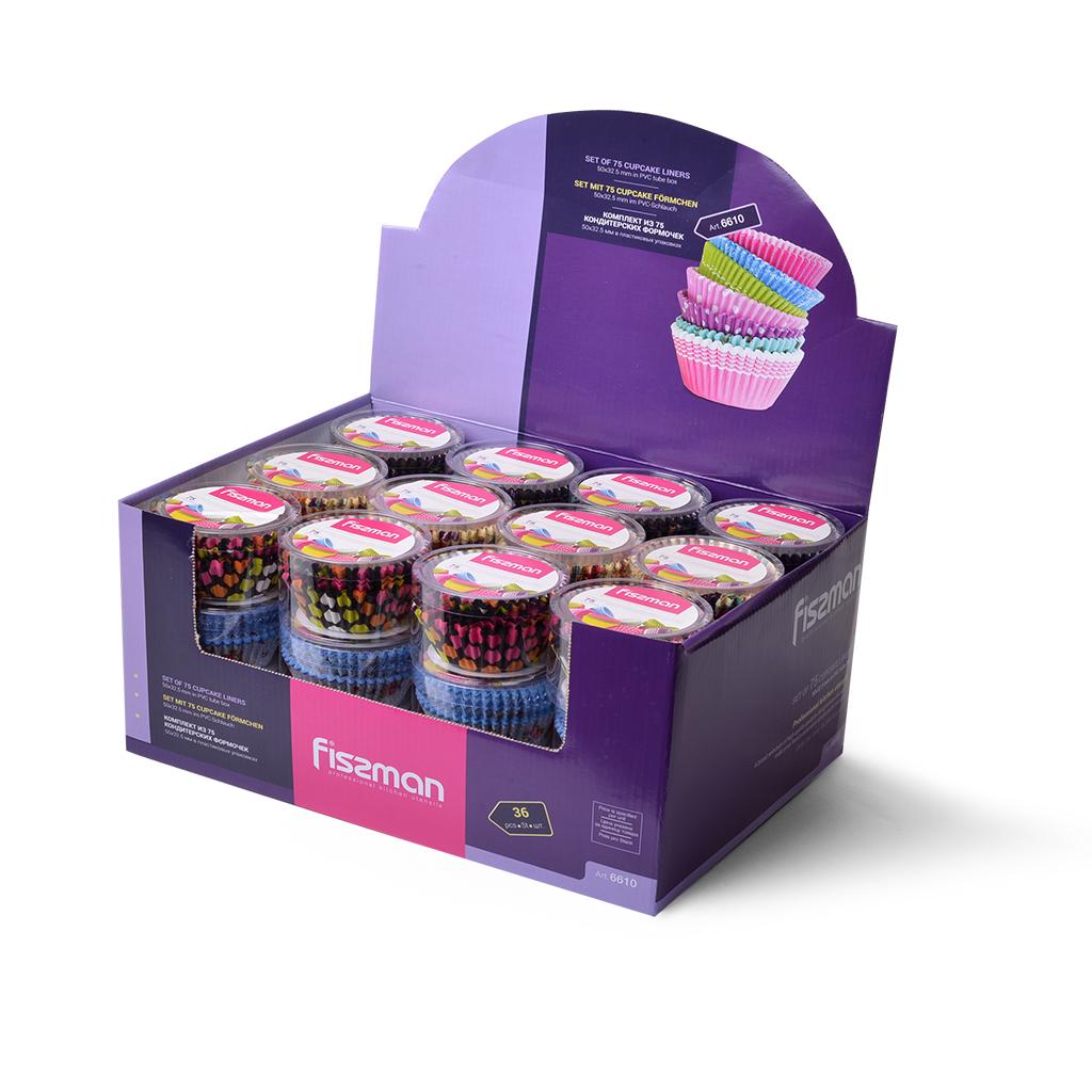 Набор форм для кексов Fissman 6610 Разноцветный