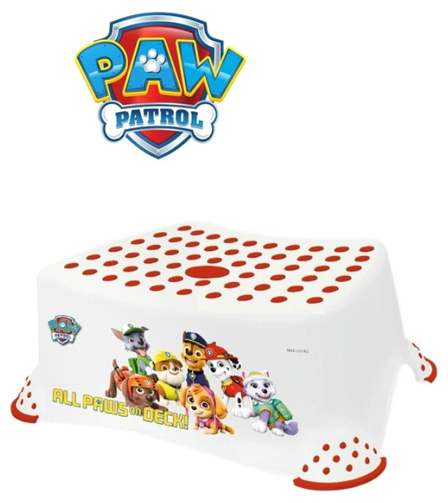 Купить Подставка-табурет для детей Keeeper Disney Щенячий патруль Белая, Аксессуары для купания