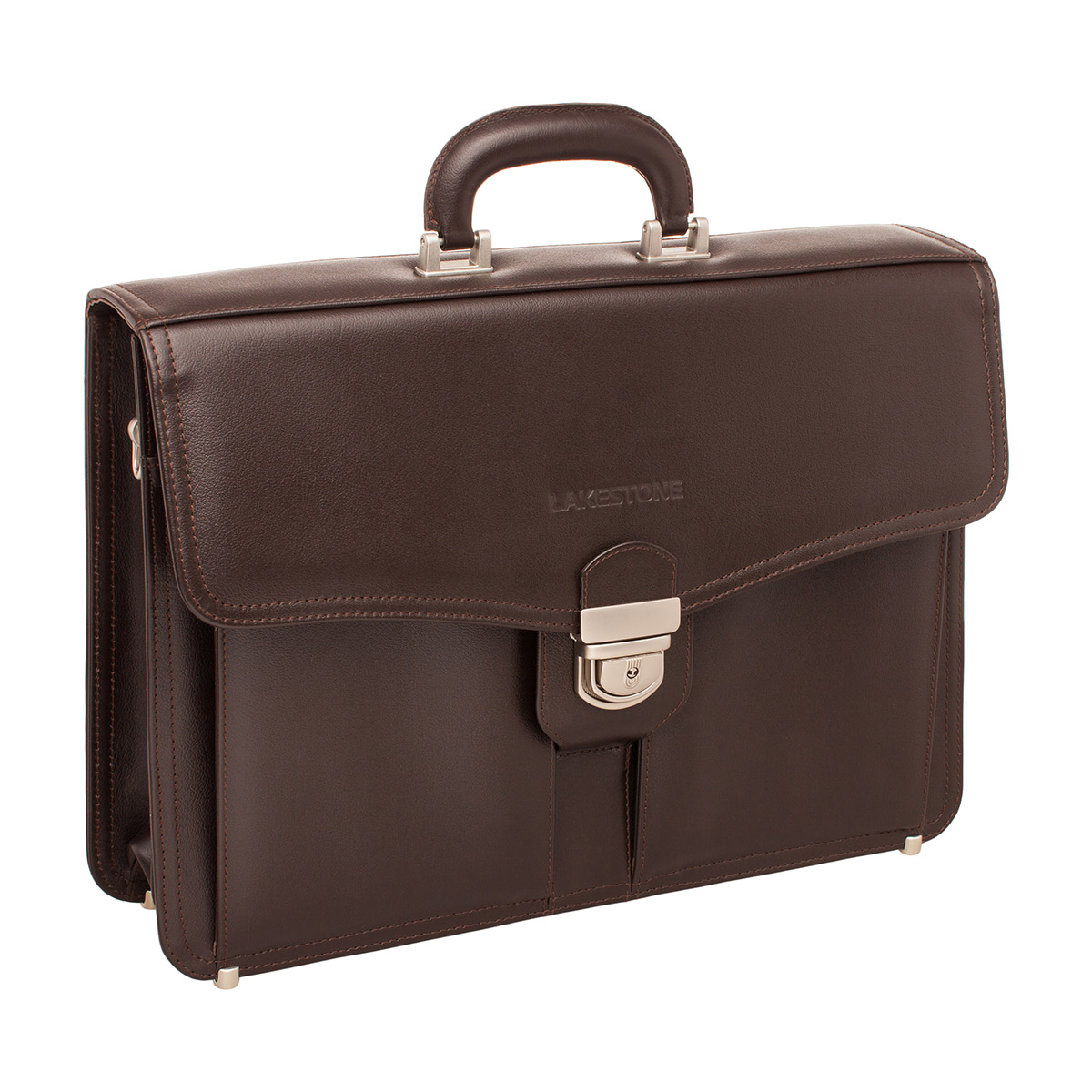Портфель мужской кожаный Lakestone Farington коричневый фото