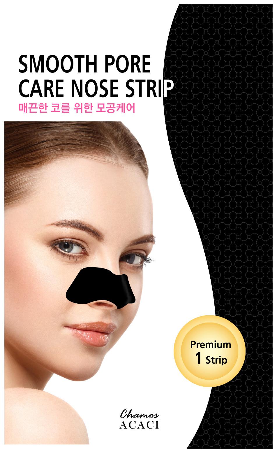 Патчи для очищения кожи Chamos Acaci Smooth Pore Care Nose Strip 3 г